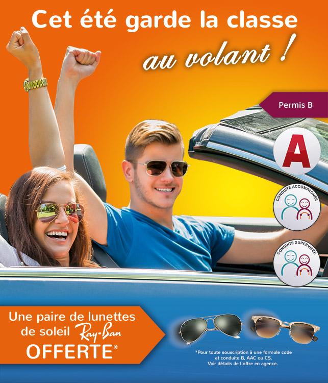 auto ecole montigny le bretonneux facility conduite promo lunette Rayban